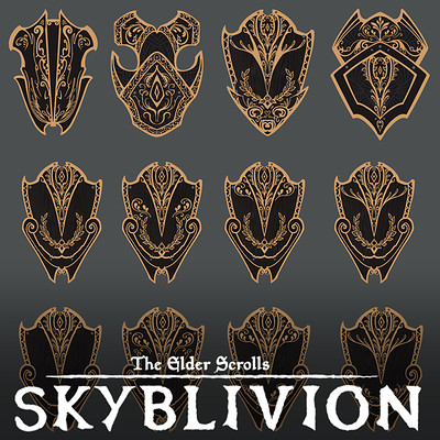 Yen shu liao skyblivion ebony shield sheet