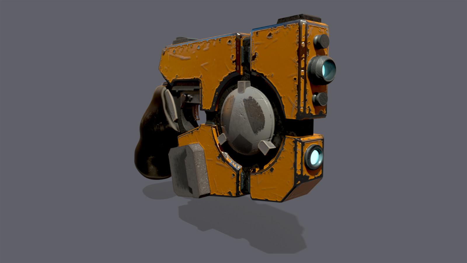 Sci-Fi Pistol Model