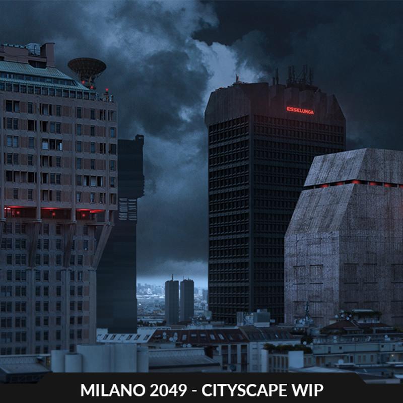 Milano 2049 - cityscape WIP