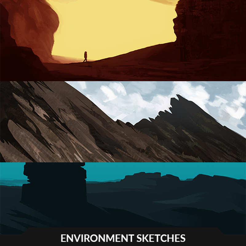 Environment sketches