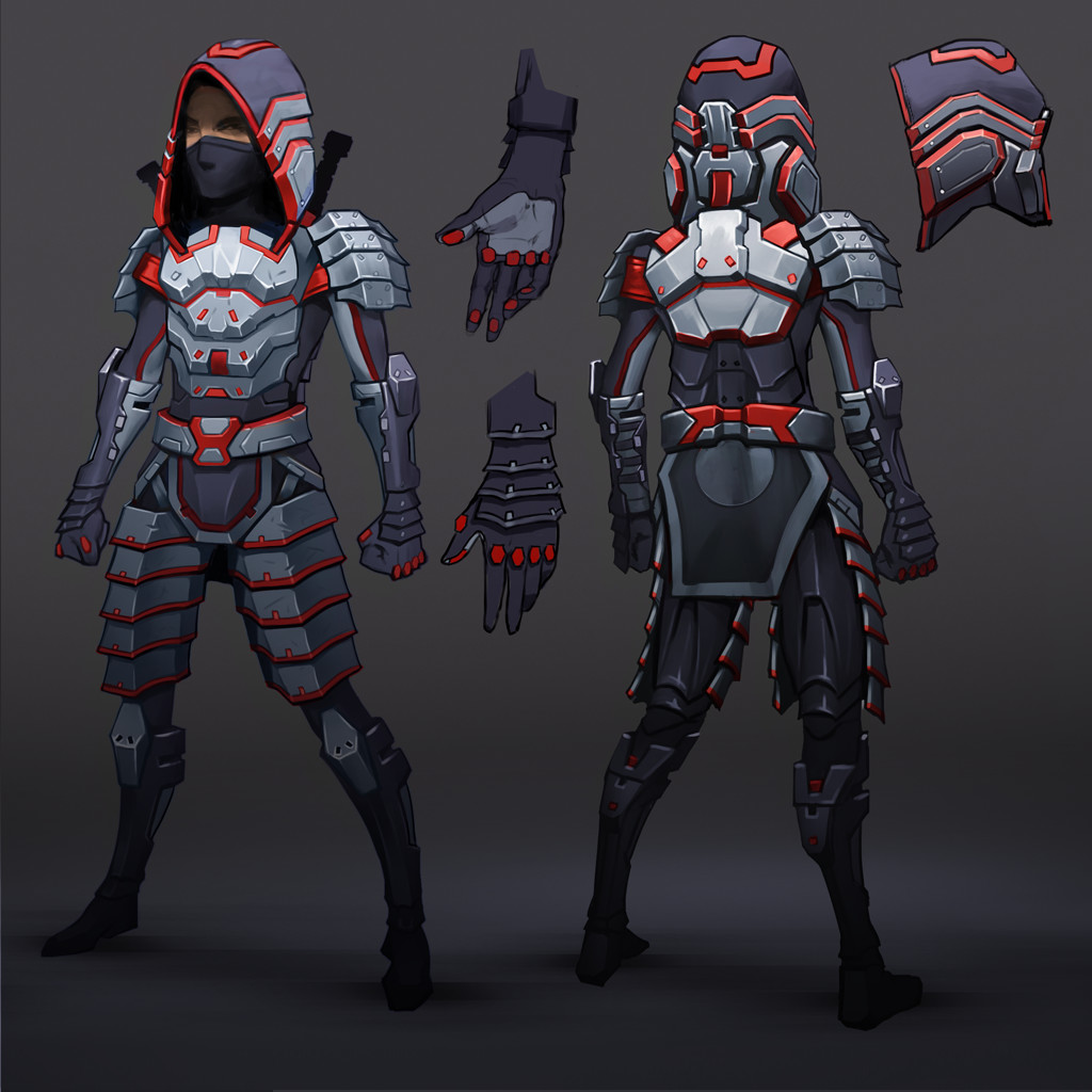 Sci-fi ninja character