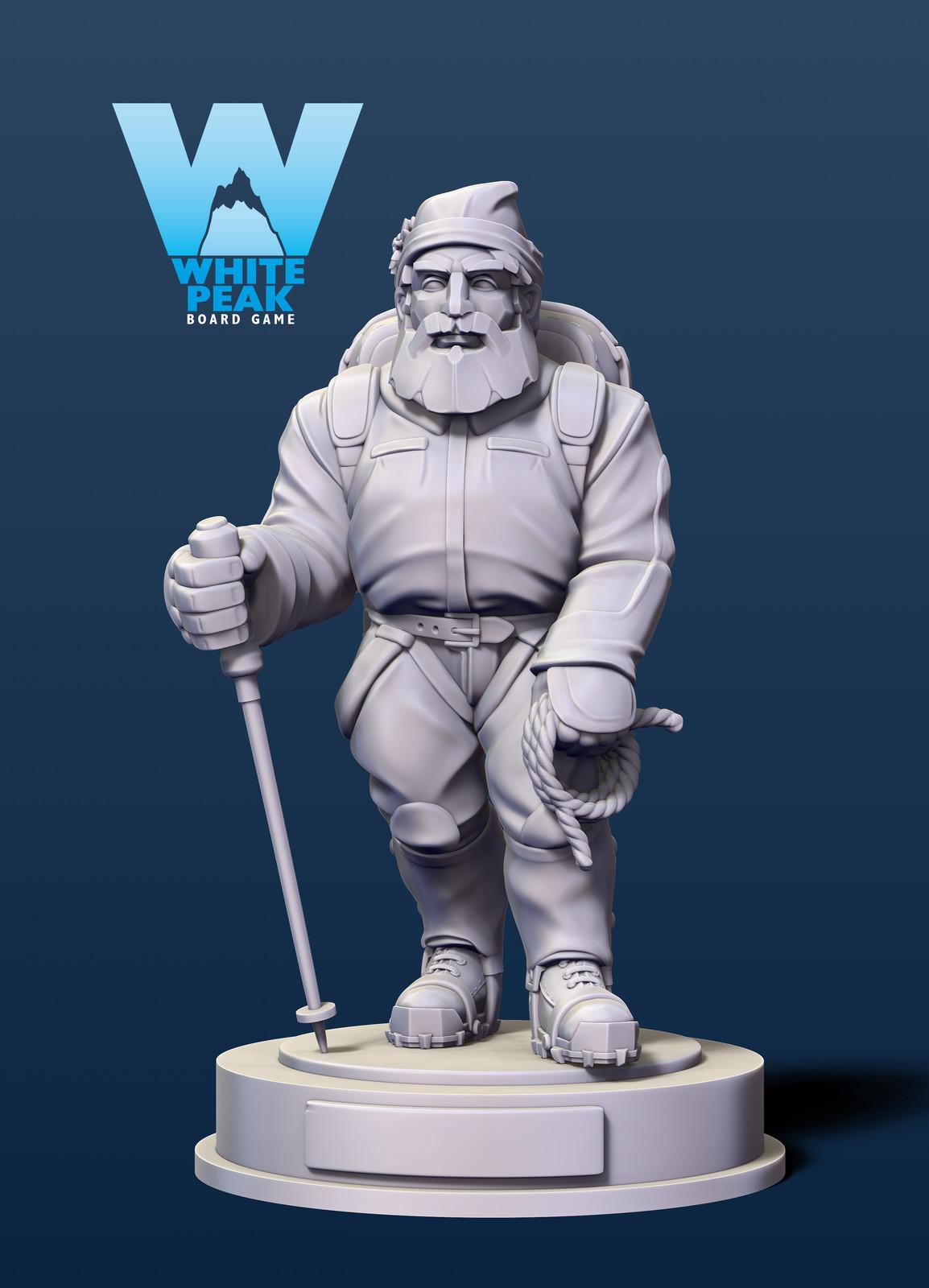 Mountain board game figure