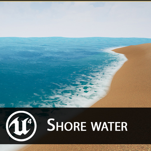 ArtStation - UE4 - Shore water, Olivier Babu
