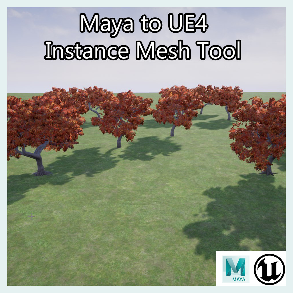 ArtStation - Maya to UE4 Instance Mesh Tool , James Miller