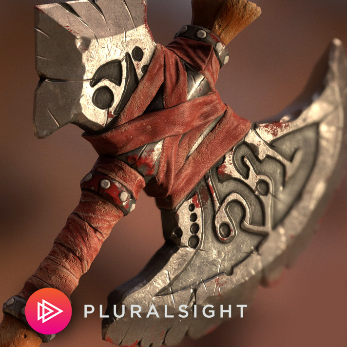 ArtStation - Stylized Axe Tutorial (Pluralsight), Alex Jerjomin