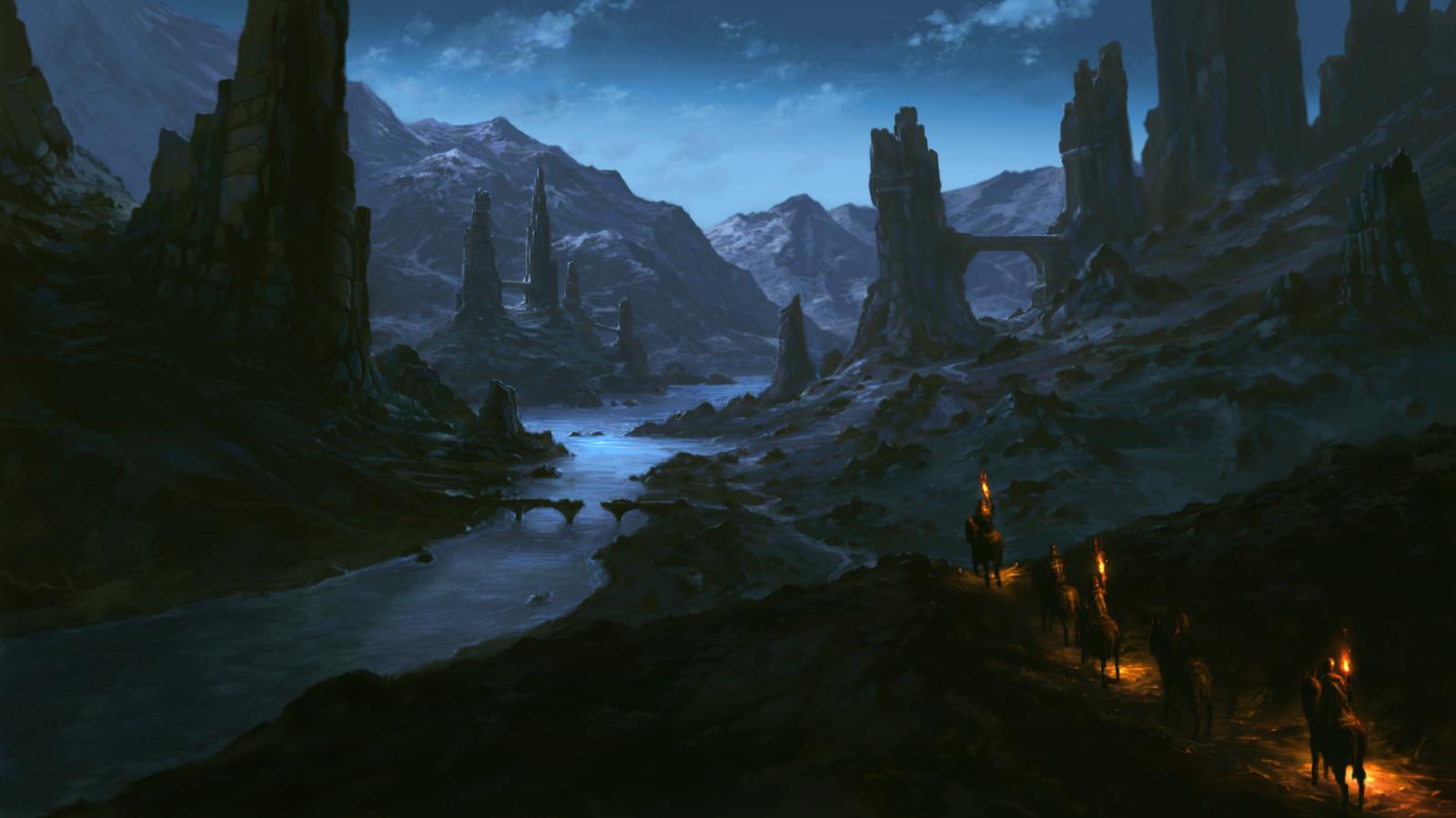 Night ruins