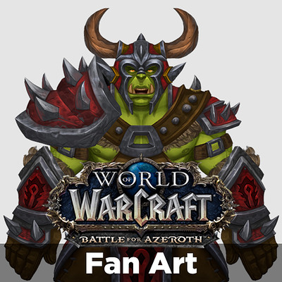 World of Warcraft: Battle for Azeroth | Orc Heritage Armor Set | Fan Art | #RoadToBlizzard