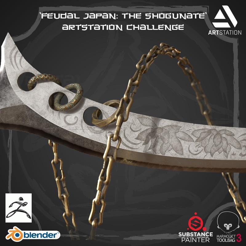 'Feudal Japan' Artstation Challenge - WARLORD NAGINATA