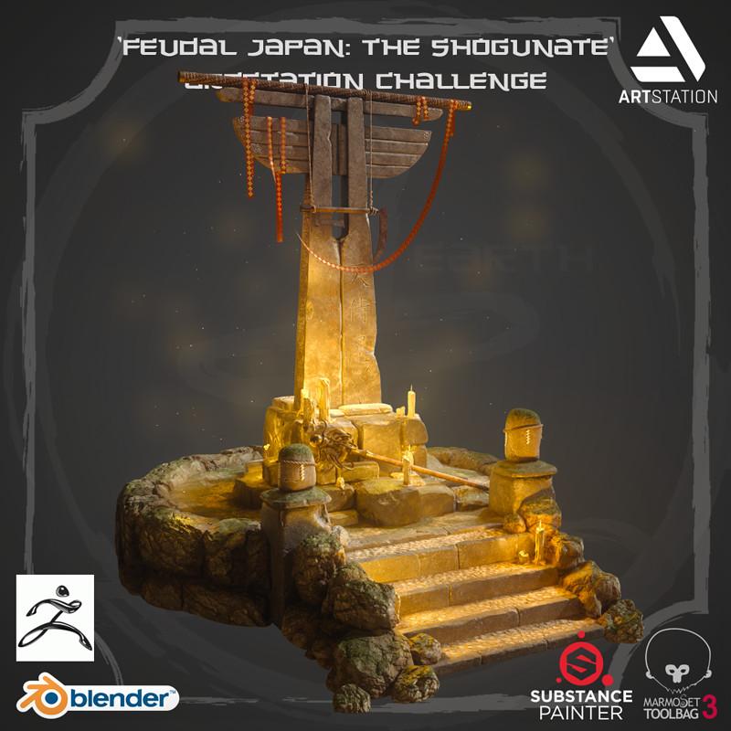 'Feudal Japan' Artstation Challenge - FOREST SHRINE