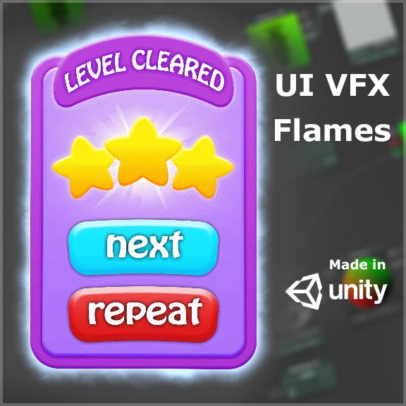 ArtStation - UI flame VFX, Fidel Hau