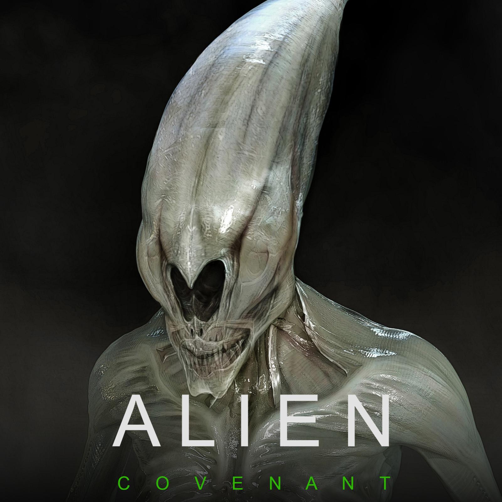 Early Neomorph Concept Art for Ridley Scott's Alien Covenant