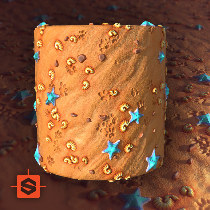 Stylised, Cartoon and PBR textures for games | 100% substance designer