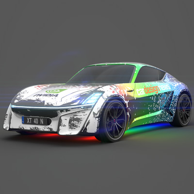 Kay vriend rgb procedural car front3q