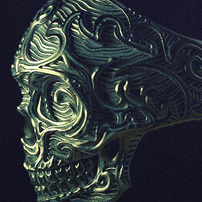 Nacho riesco gostanza nrbaroque skull bronze