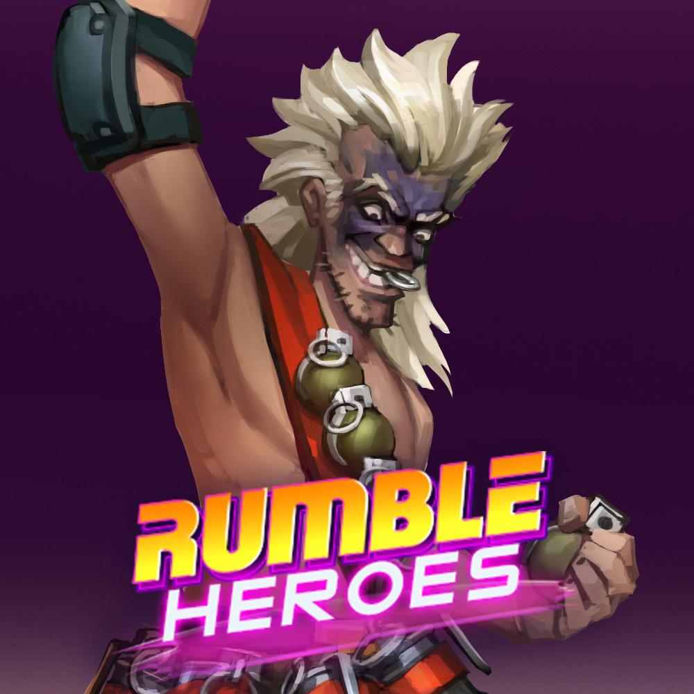 Rumble Heroes: Concept Art of Zip