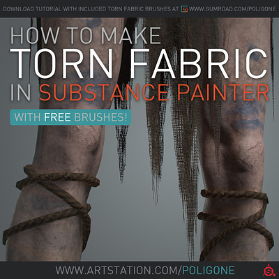 How to make Torn Fabric in Substance Painter - Free Tutorial