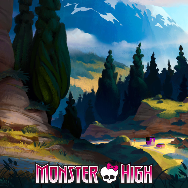 """""""Welcome to Monster High"""" Concept Art"""