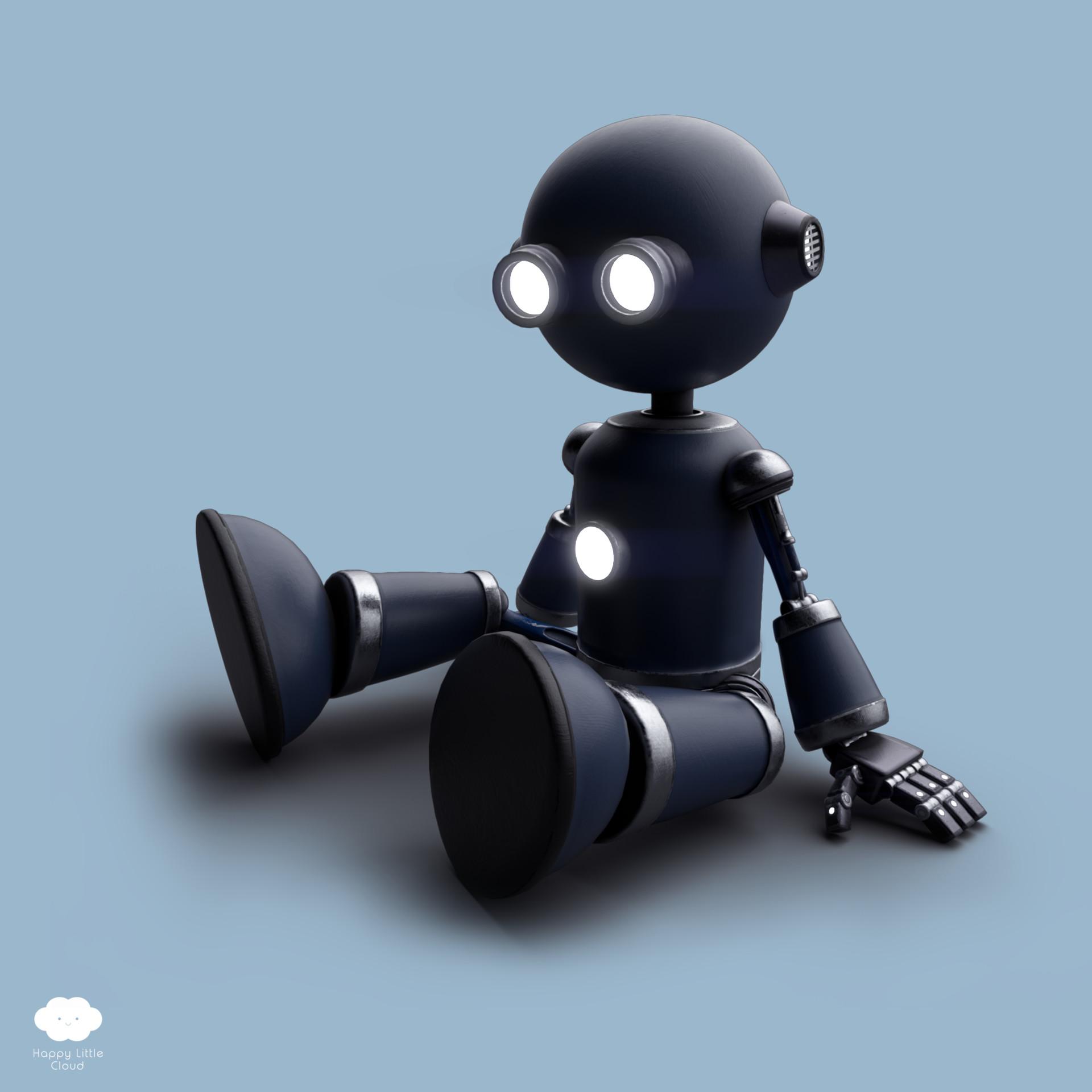 ArtStation - M3 Robot, Happy Little Cloud