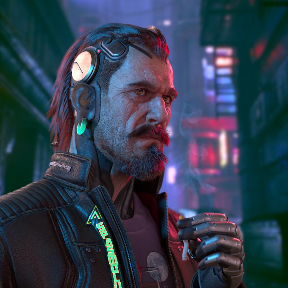 Cyberpunk portait