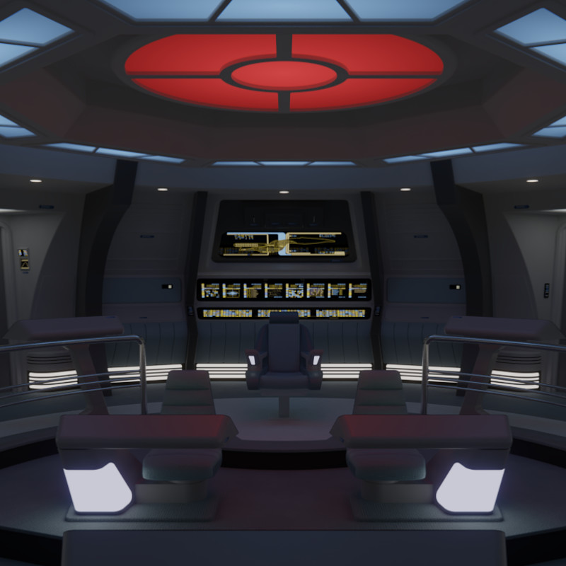 USS Galaxy Battle Bridge - 2365