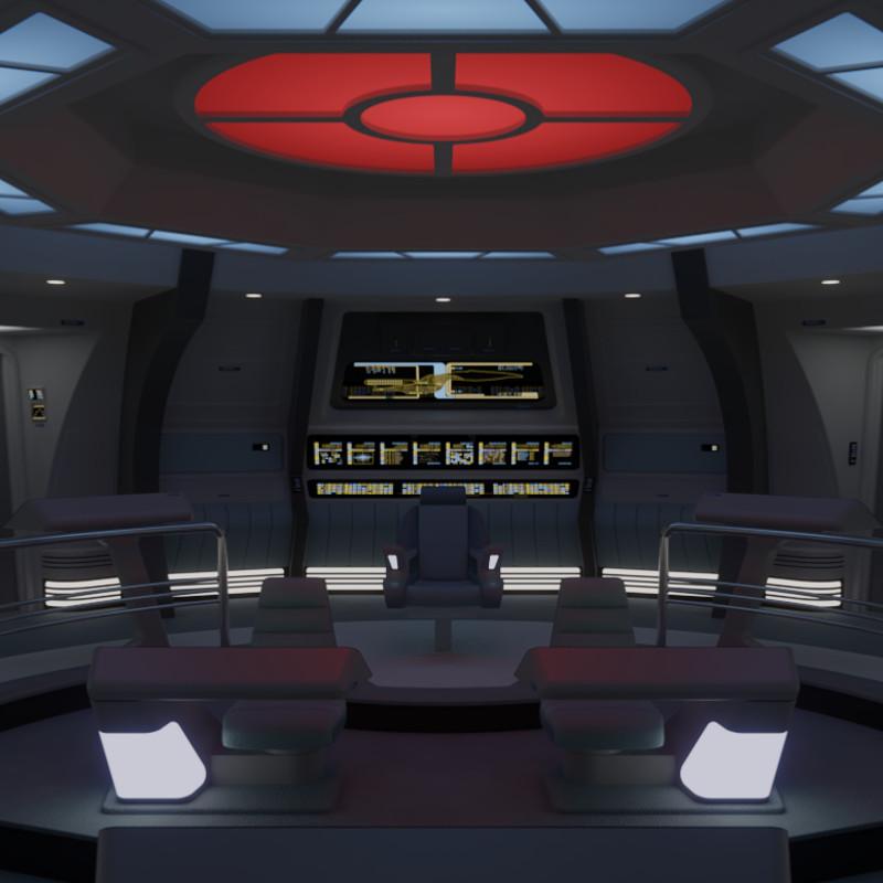 USS Galaxy Battle Bridge - 2365