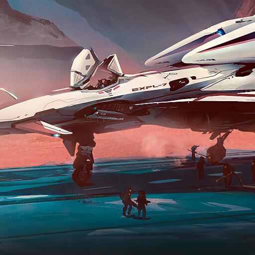 Spacecraft take off - design concept.