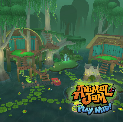 Animal Jam - Play Wild! - Bayou Bungalow Den