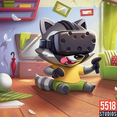 5518 studios raccoon family