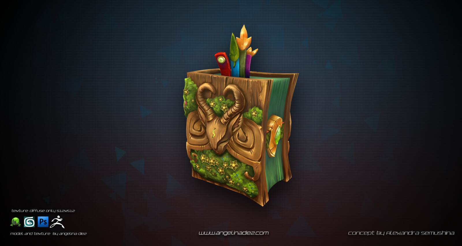 Magic Book Handpainted