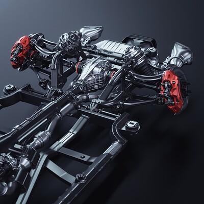 Wanoco 4d car sports mercedesamg gt 308