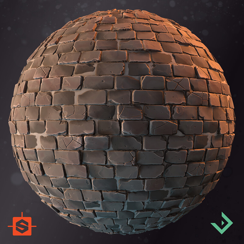 Stylized Material Studies - Stone-/Brickwall and Floor Tiles