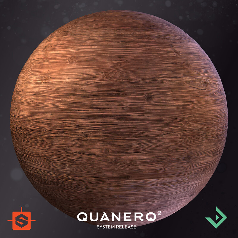 Quanero 2 - System Release | Rough Aged Wood Material