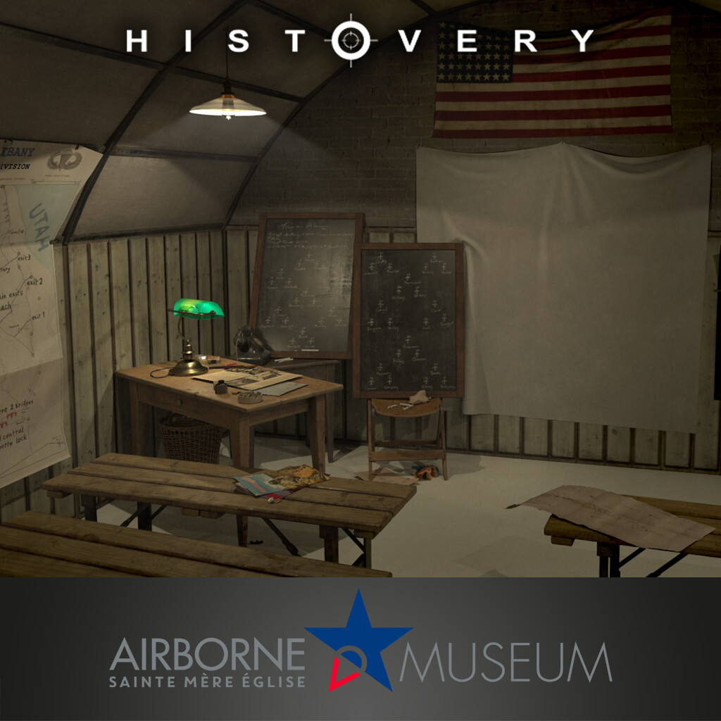 Airborne Museum- briefing room