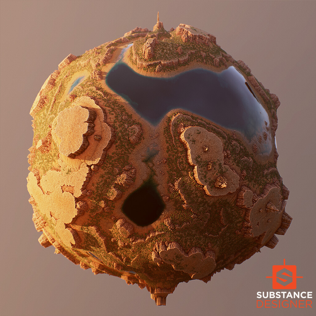 Plateaus - 100% Substance Designer