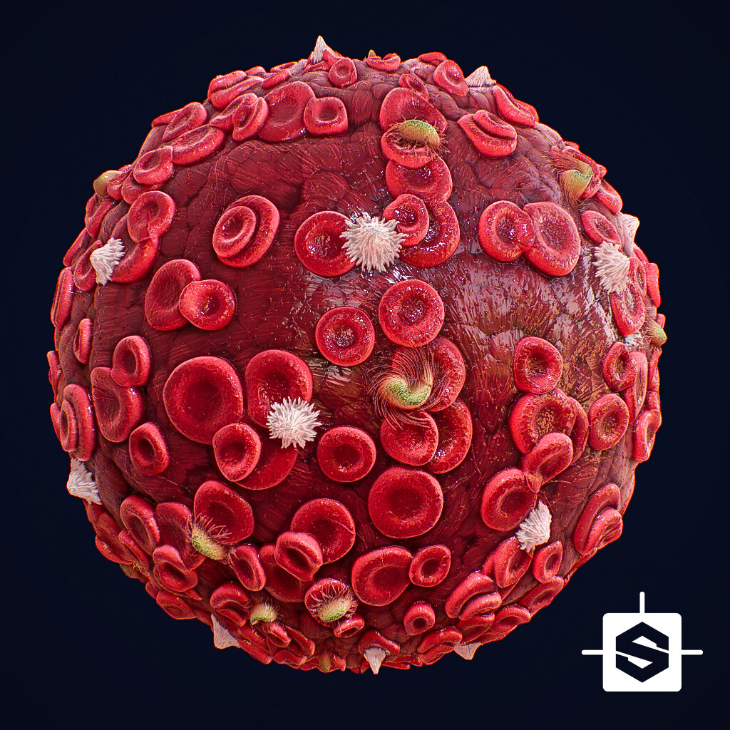 Blood Cells Material - 100% Substance Designer