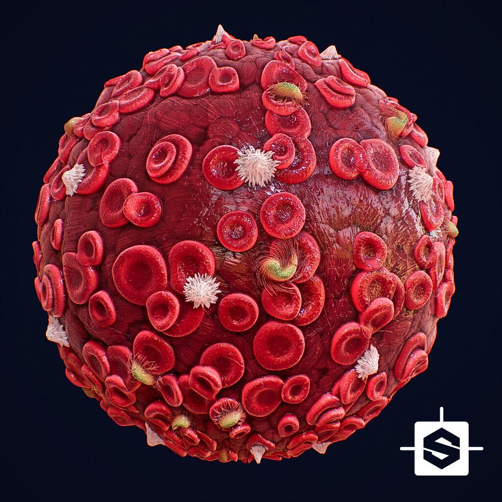 Blood Cells Material - 100% Substance Designer