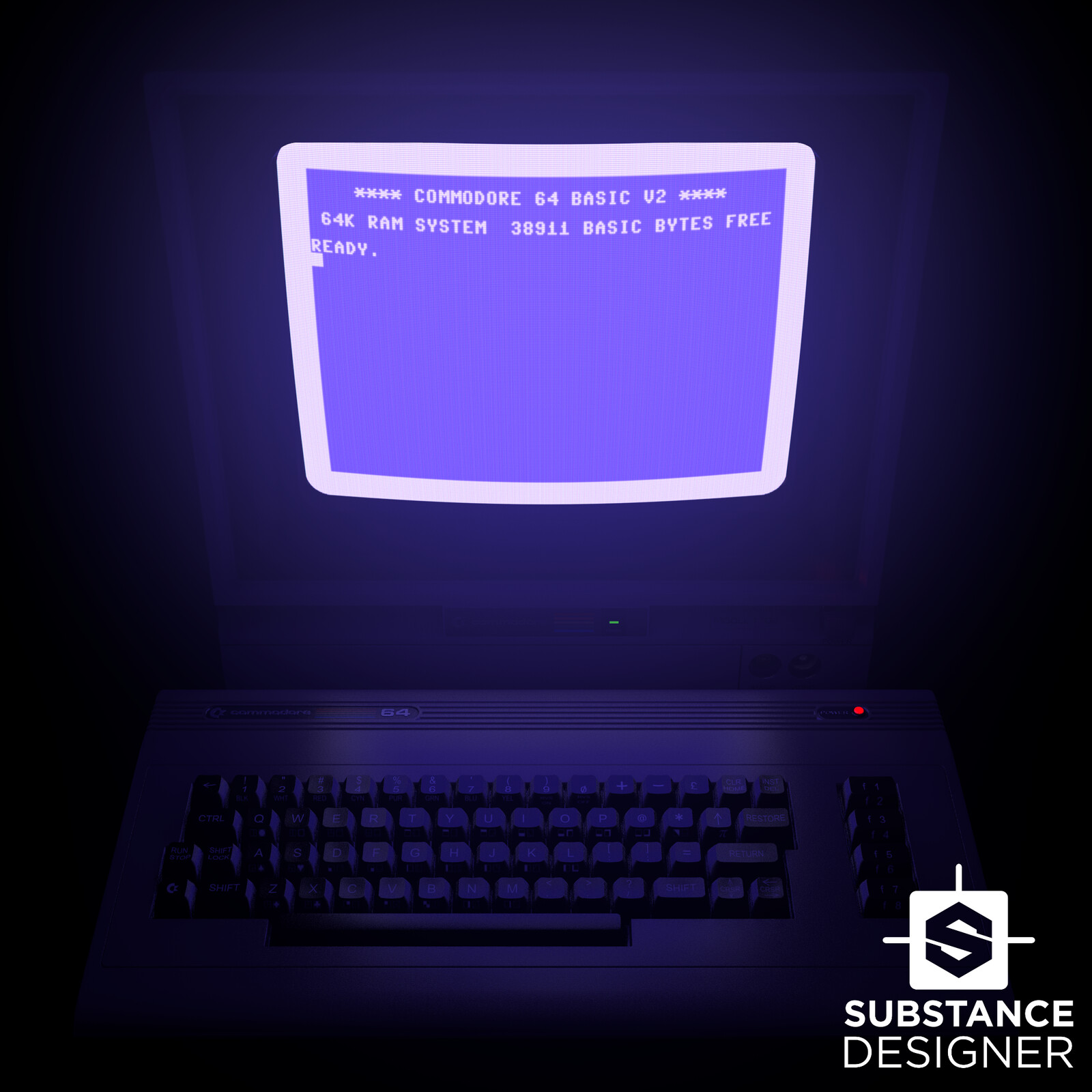 Substance Designer - Fully Procedural Commodore 1702