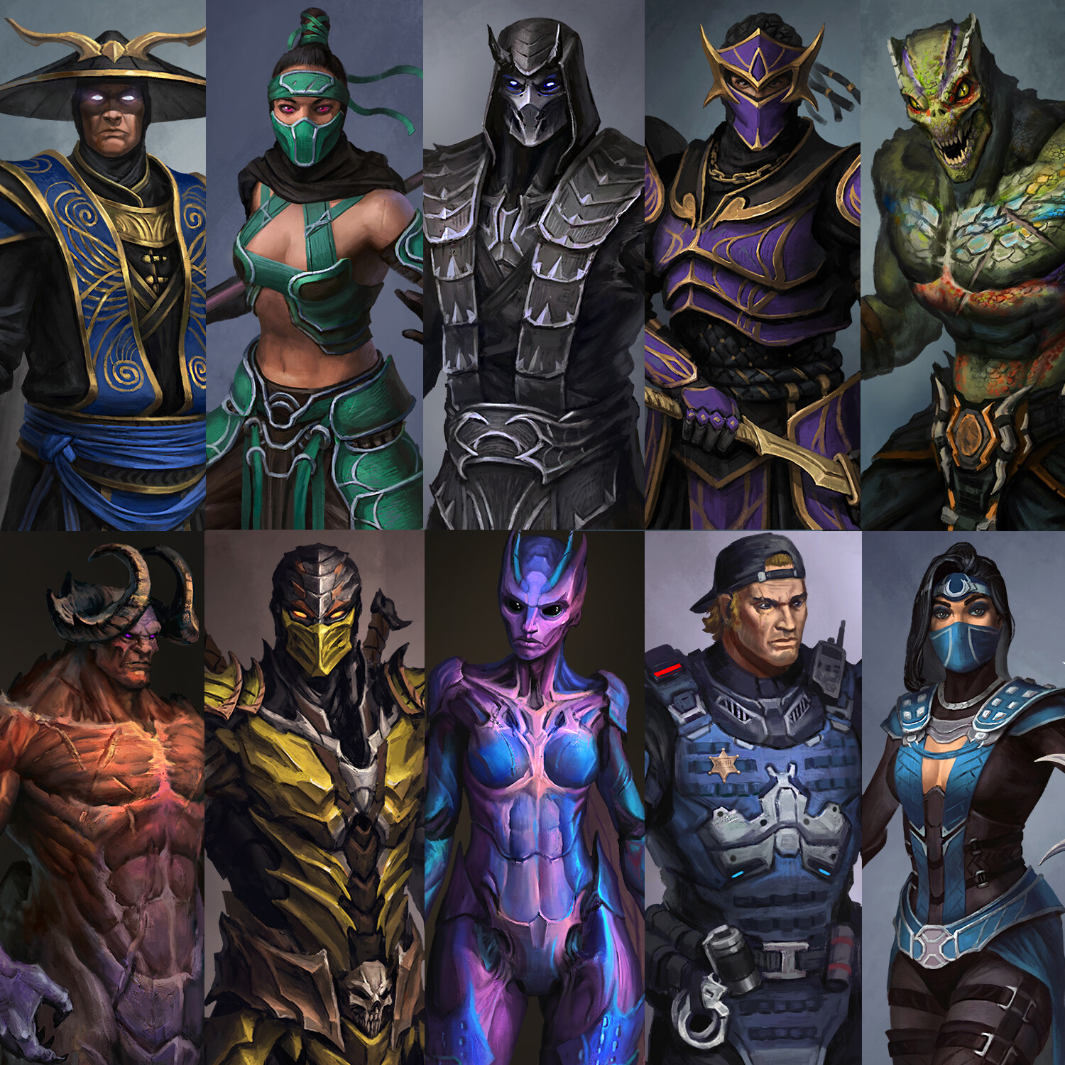 Artstation Alternative Designs Skins Of The Mk Characters