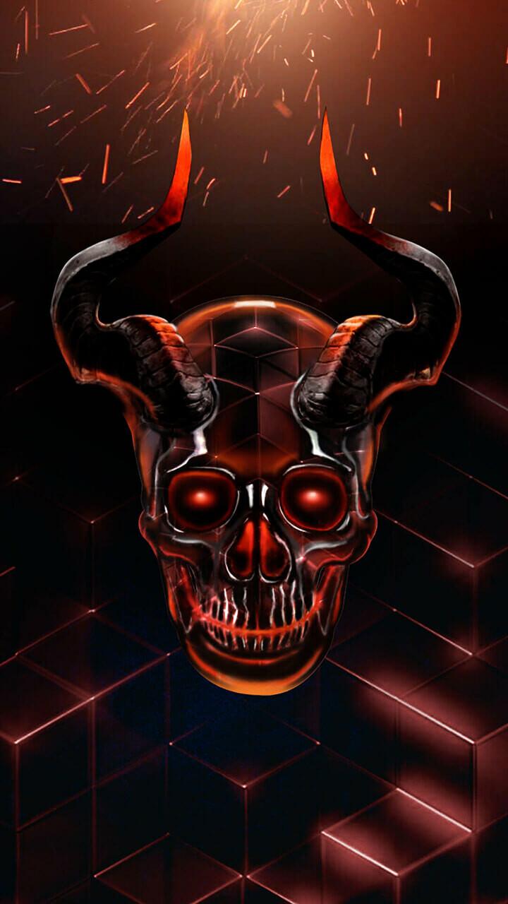 Artstation 2d 3d Cool Evil Crystal Skull Theme Rucha Rane