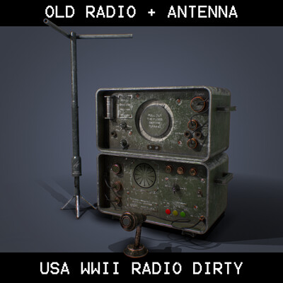 Old WWII Radio USA