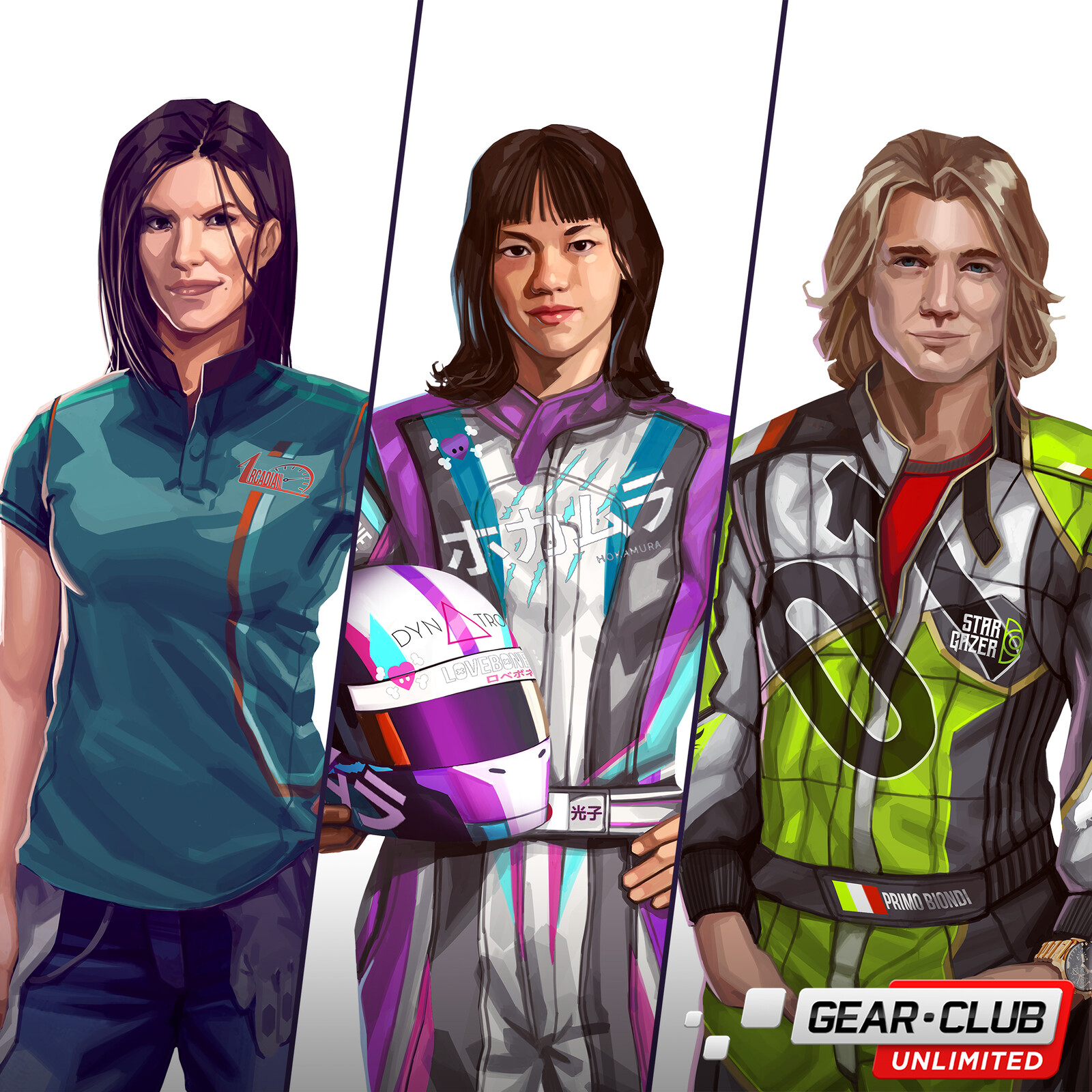 Gear Club Unlimited - Characters