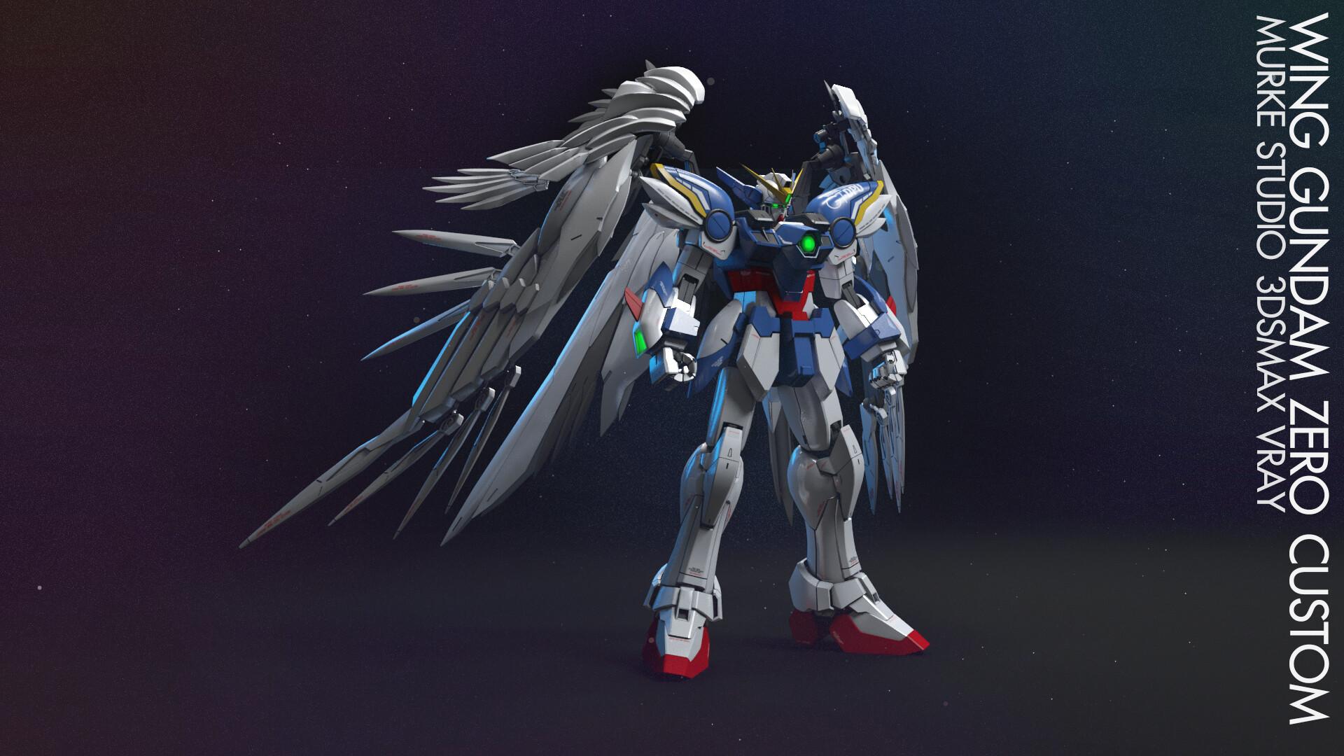 Artstation Gundam Wing Zero Custom Pisit Soonthron