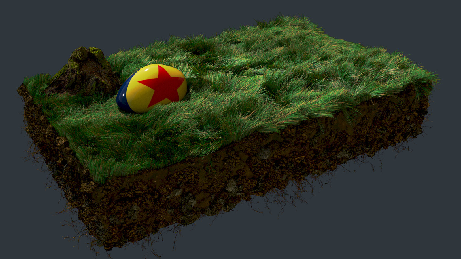 Grass & Ball (Vellum Houdini)