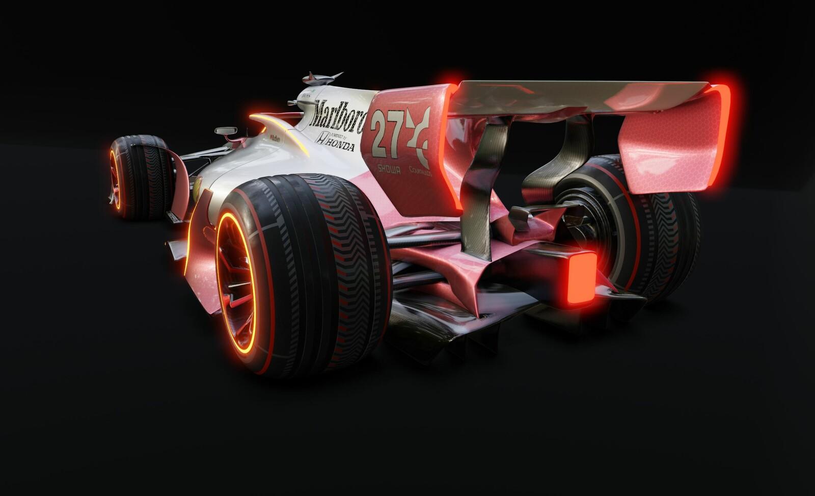 Futuristic F1 car Retro McLaren (Eevee)