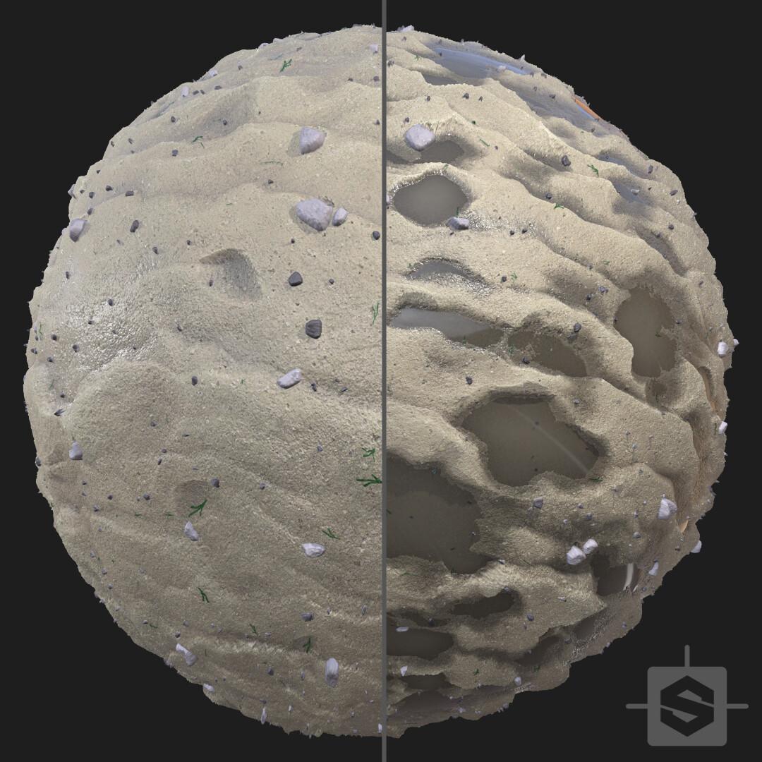 Sand ripples Materials - Procedural Material PBR