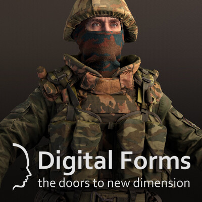 Russian uniform and equipment of the early 2000's RAW 3d scan data