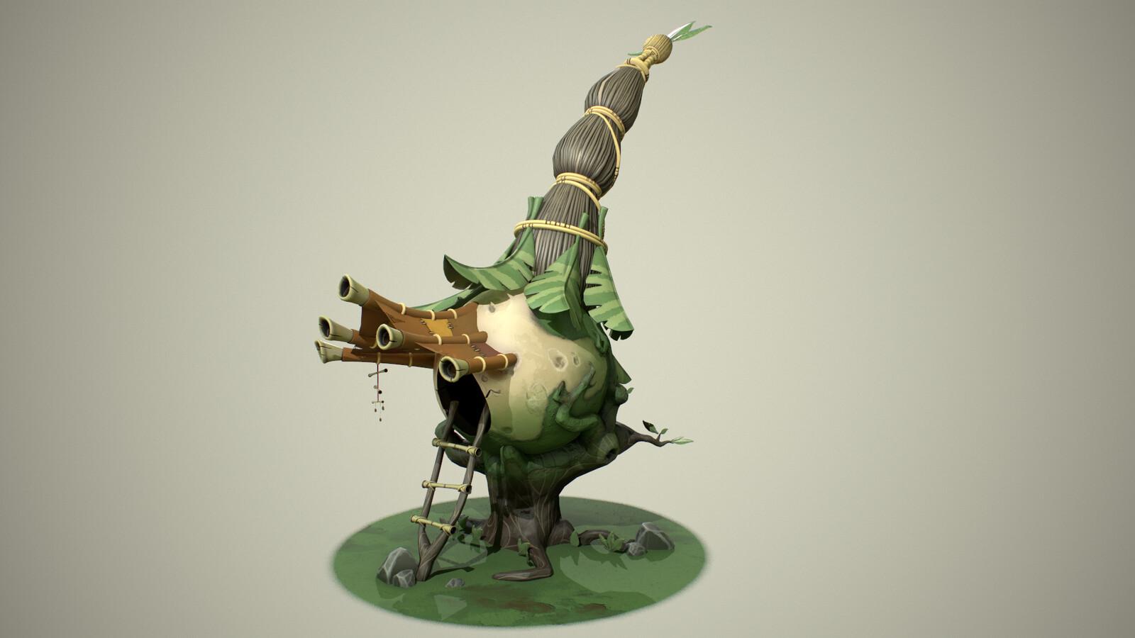Putt Putt Onion Hut | 3D Model