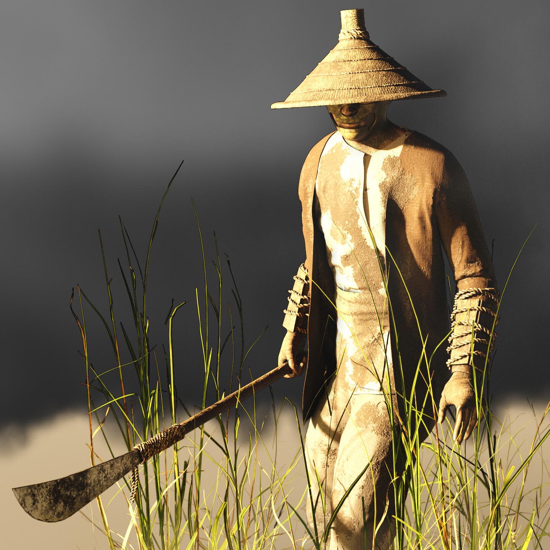 Sekiro Rice Farmer Fan Art