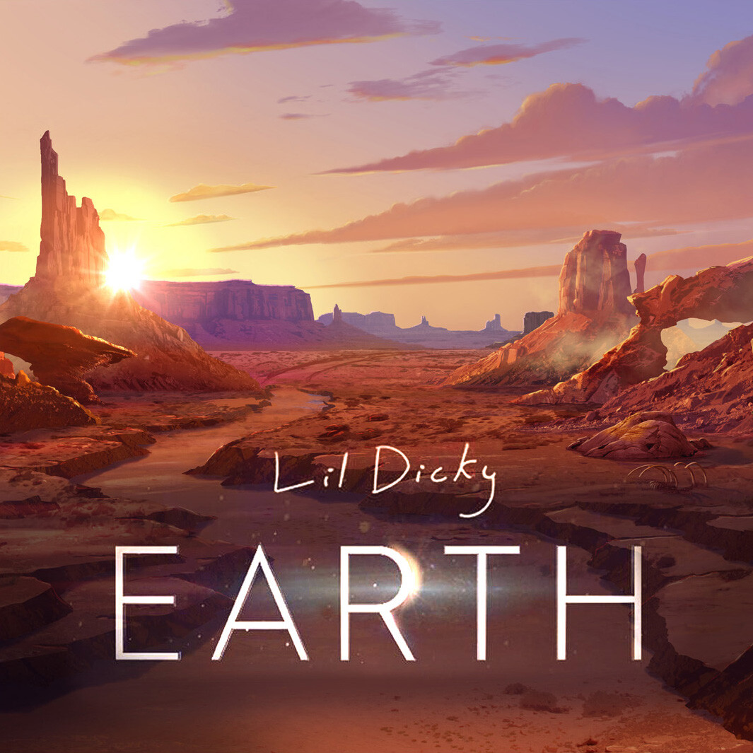 Lil Dicky - Earth.    Matte Painting