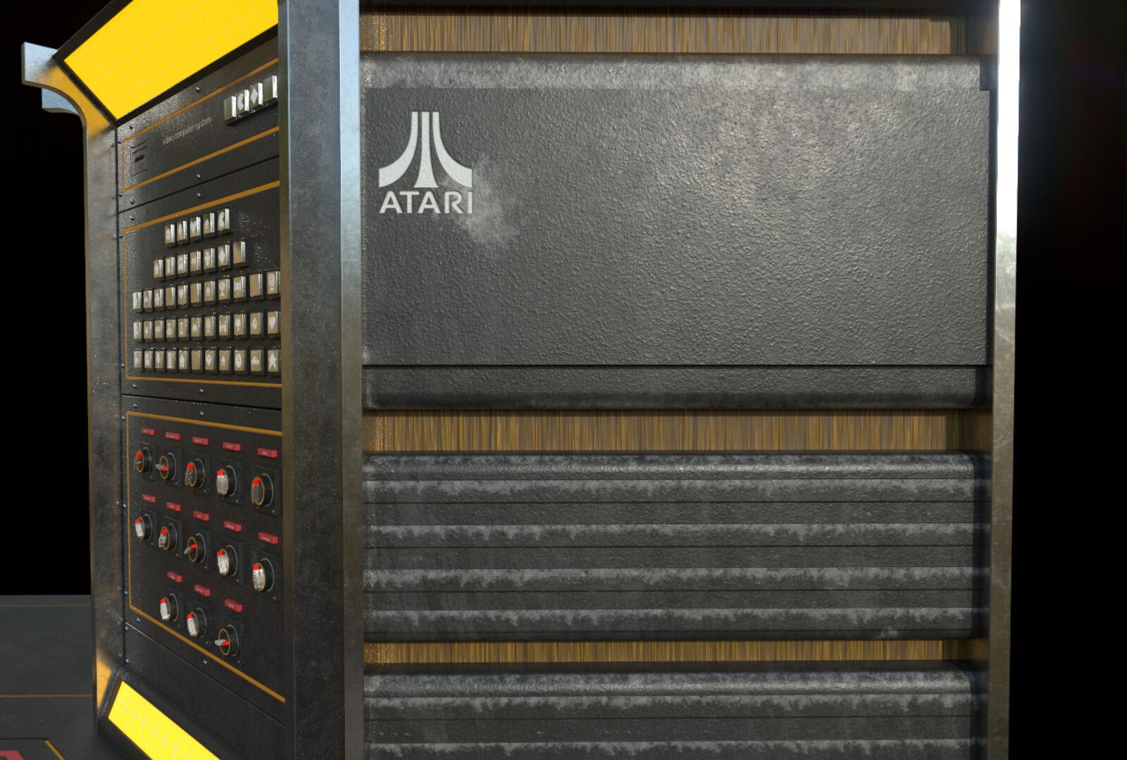 Sci-Fi Hallway - Texture Detailing